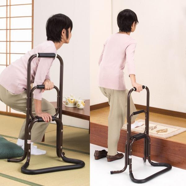 【300円OFFクーポン配布中】【ランキング1位獲得】アルミのらくらく手すり 2個組 868送料無料 膝や腰の負担を助け楽に立ち上がれます!日本製です 4482 手すり シルバー用品 介護用品 歩行補助 ステッキ 介護 手すり 日本製