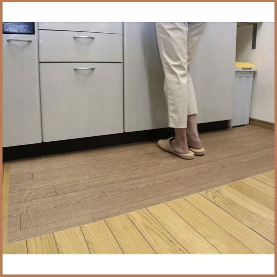 \300円引きクーポン進呈/【ランキング受賞】キッチンフロアマット(プチリフォームマットシリーズ) 80×120cm送料無料 キッチンをいつも清潔に♪ キッチン用マット マット