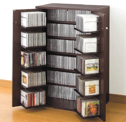 収納家具 本棚・ラック・カラーボックス AVメディア収納ラック 収納名人(CDラック)聴きたい1枚がサッと見つかる!ひとり暮らし1R1KCDDVDAV小物収納シンプル1人暮らし壁面収納多目的収納ラック本棚シェルフラックディスプレイコレクション書庫ナブラックダークブラウン