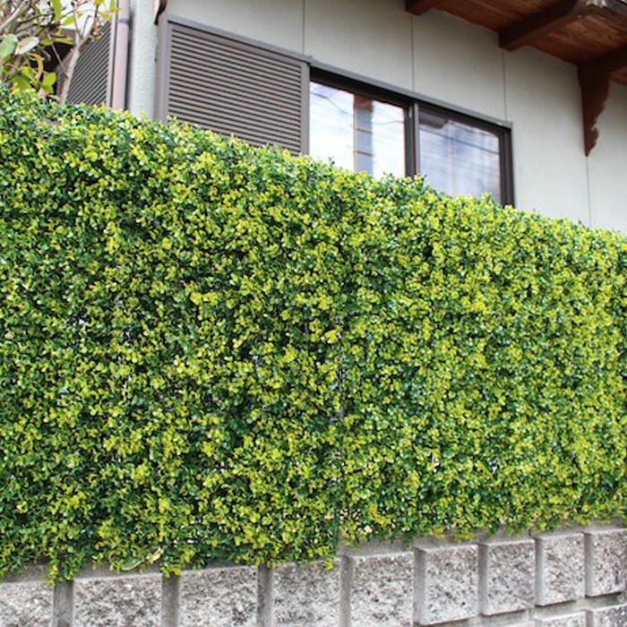 \300円引きクーポン進呈/リアルグリーンフェンス ボックスウッド送料無料 8238 リアルなグリーンが夏の日差しをカット!目隠しにも最適。 簡単設置 緑のカーテン 涼しい 夏 グリーンフェンス 目隠し リアル 工事不要