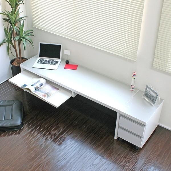 【ランキング受賞】鏡面仕上 ロータイプ 150cm幅 パソコンデスク 2点セット 日本製 デスク パソコンデスク安心して使える国産で低ホルマリン仕様です♪ FM122SWT FM122BK ホワイトパソコンデスク 机 学習机 デスク PCデスク PC台 つくえ コンパクト デスク サイド