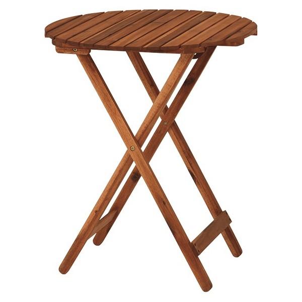 \300円引きクーポン進呈/【ランキング受賞】アカシアガーデン テーブル VGT-7351送料無料 折りたたみ式なので収納場所に困りません! VGT-7351 ガーデンテーブル 木製 カントリー 机 つくえ 作業台 テーブル レトロ テーブル ガーデンテーブル 木製 カントリー