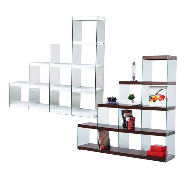 ガラス 店舗用 ステアラック4DHAB-703 本棚・ラック・カラーボックス 収納家具 コレクション ディスプレイ ウォールシェルフ 棚 見せる収納