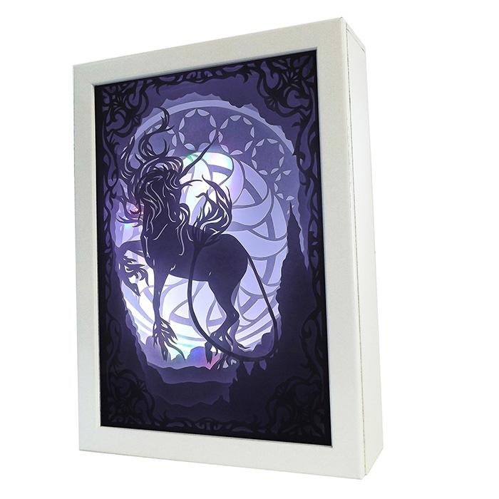 【送料無料】ユニコーン ライトボックス 3Dシャドウボックス 照明 インテリア雑貨 飾り 電球 電気 ナイトランプ 卓上ライト 間接照明 ナイトライト LED こもれび #KM005-0【キャッシュレスポイント還元対象】
