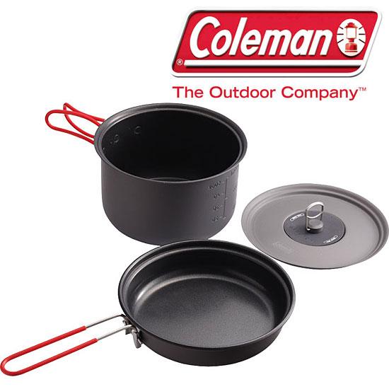 コールマン 取寄 2000010530 パックアウェイクッカーセット アルミ製軽量クッカーセット フライパン 片手鍋 メッシュポーチ RCP
