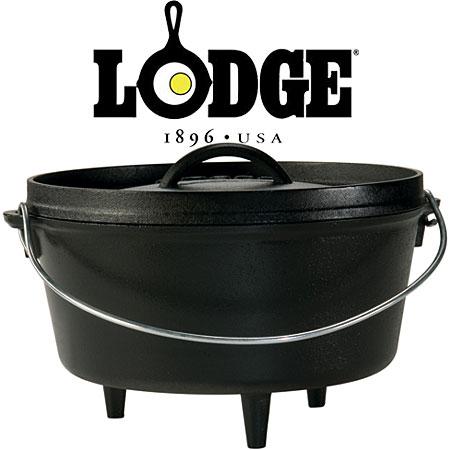ロッジ ダッチオーブン本体 LDG19240120-10D ロジックキャンプオーヴン10インチDeep キャンプオーブン深型10インチシーズニング済 ダッジオーブン L10DCO3