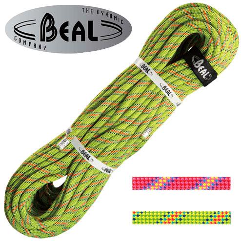 ベアール 10mmバイラス60m BE11161 ロープ Virus 10 mm ピンク グリーン