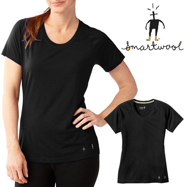 スマートウール インナー SW64203(ブラック)Wsメリノ150ベースレイヤーショートスリーブ Women's Merino 150 Baselayer Short Sleeve スポーツアンダーウェア 速乾Tシャツ 速乾インナー 下着 レディース/女性用