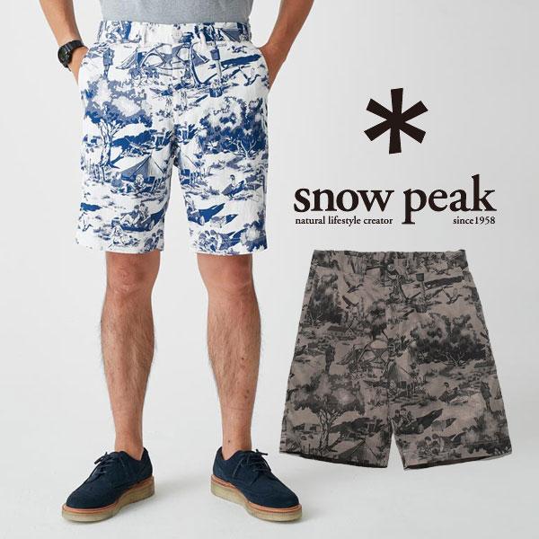 スノーピーク パンツ メンズ/男性用 PA-17SU106 キャンプアロハショーツ (メンズ) Camp Aloha Shorts (men's) ショートパンツ