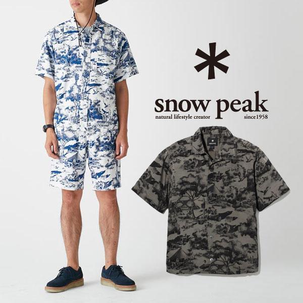 スノーピーク キャンプアロハシャツ (メンズ) SH-17SU104 メンズ/男性用 Camp Aloha Shirt (men's)