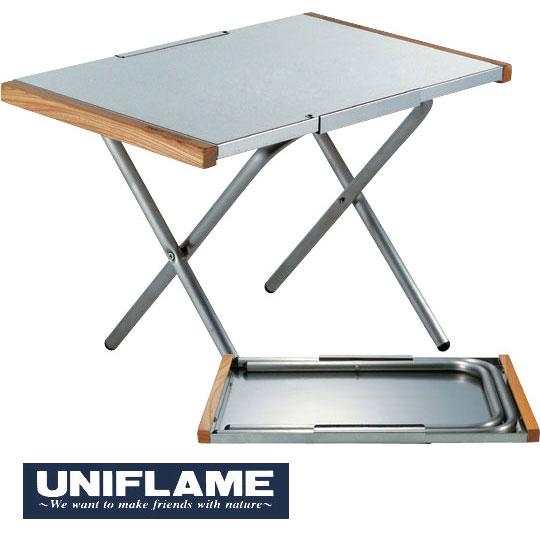 [キャッシュレス5%還元対象]ユニフレーム テーブル 682104 焚き火テーブル サイドテーブル 焚火テーブル ダッチオーブン用 鍋敷 調理台 ウイング型ストッパー
