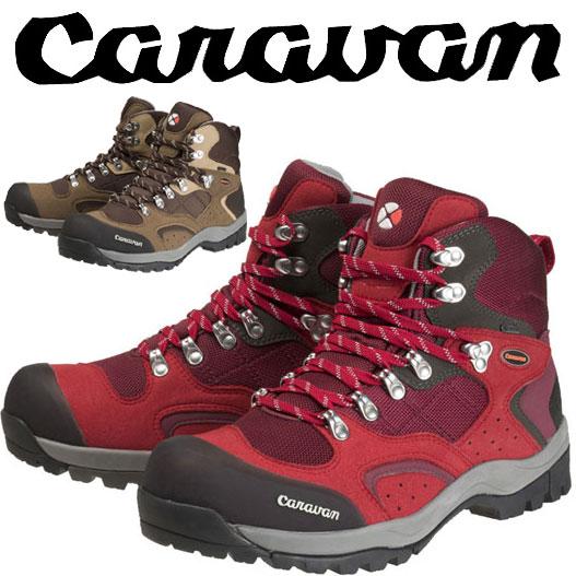 キャラバン C1-02S CRVN0010106 レディース/女性用サイズ 登山靴 レッド ブラウン ネイビー