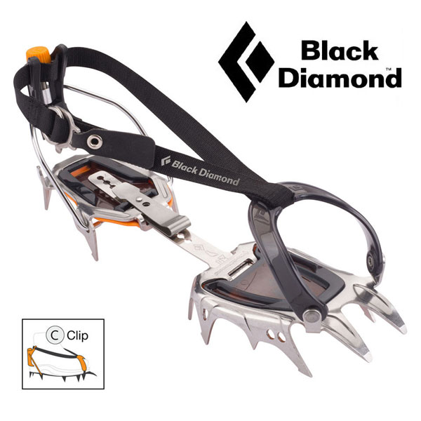 ブラックダイヤモンド クランポン BD33054 セラッククリップ 12本刃クランポン 12本刃アイゼン 12本爪クランポン 12本爪アイゼン 雪山登山用クランポン 雪山登山用アイゼン