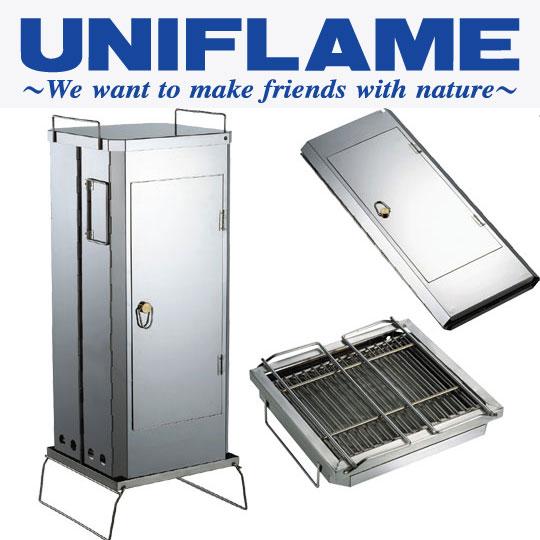 ユニフレーム スモーカー UF665916 フォールディングスモーカー(FS-600) キャンプ/野外料理用 バーベキュー/BBQ用 燻製料理