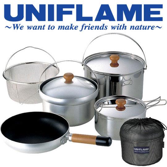 ユニフレーム UNIFRAME クッカー 660232 fan5(DX) fan5DX オールインワンクッカー 大鍋 片手鍋 飯盒 メッシュバスケット フライパン 収納ケース ファンゴーデラックス