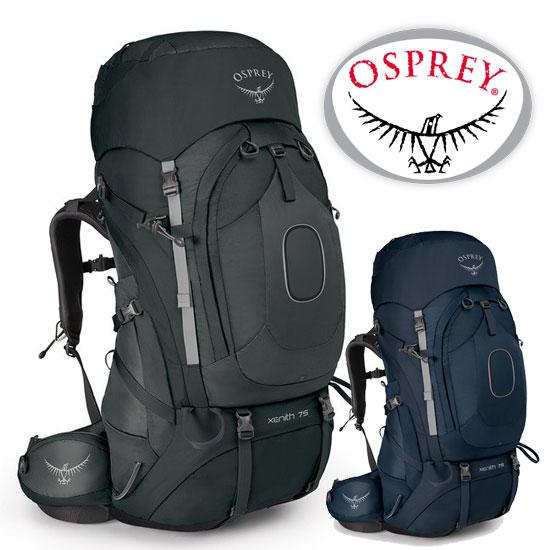 オスプレー ジーニス75 OS50013 メンズ/男性用 バックパック XENITH 75 BACKPACKING テクタイトグレー ディスカバリーブルー