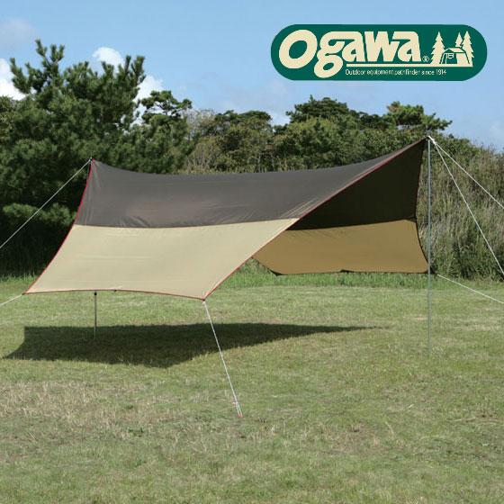 キャンパルジャパン タープ OCP3333(ブラウン×サンド×レッド)フィールドタープヘキサ(DX) ヘキサタープ キャンプ オガワキャンパル 小川テント キャンパルジャパン ogawa campal