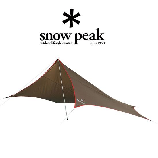 スノーピーク タープ STP-381 ライトタープ ペンタ シールド 小型タープ 変形五角形 パドル/ウォーキングポールで代用設営可能 ソロテント 小型テント パドルフッキングカバー 2015年リニューアル