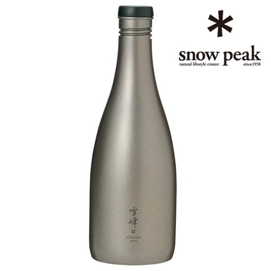[キャッシュレス5%還元対象]スノーピーク 酒筒(さかづつ)Titanium TW-540 とっくり Titanium Sake Bottle Titanium