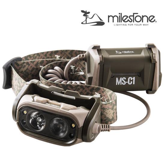 マイルストーン ヘッドライト stoneMS-C1(ODオリーブドラム)MS-C1(350ルーメン) LEDヘッドライト LEDヘッドランプ 懐中電灯
