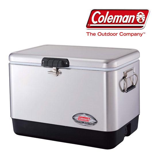 [キャッシュレス5%還元対象]コールマン 54QTスチールベルトクーラー(シルバー) CLMN3000001343 クーラーボックス