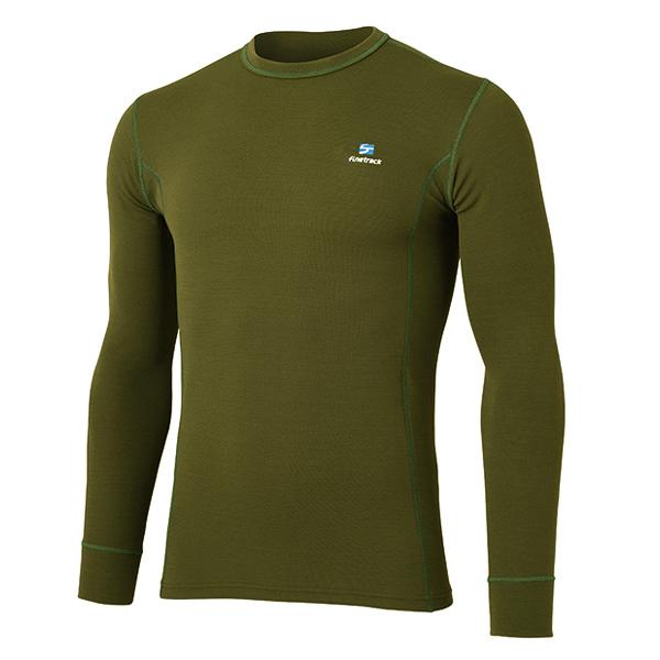 [キャッシュレス5%還元対象]ファイントラック メリノスピンサーモロングスリーブ FUM0611 メンズ/男性用 Tシャツ DOディープオリーブ
