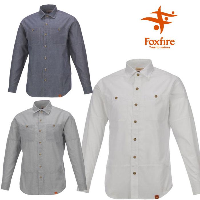 [キャッシュレス5%還元対象]フォックスファイヤー シャツ メンズ/男性用 FXF5212634 SCシャンブレーシャツL/S 長袖シャツ スコーロン 山シャツ 吸汗速乾 防虫