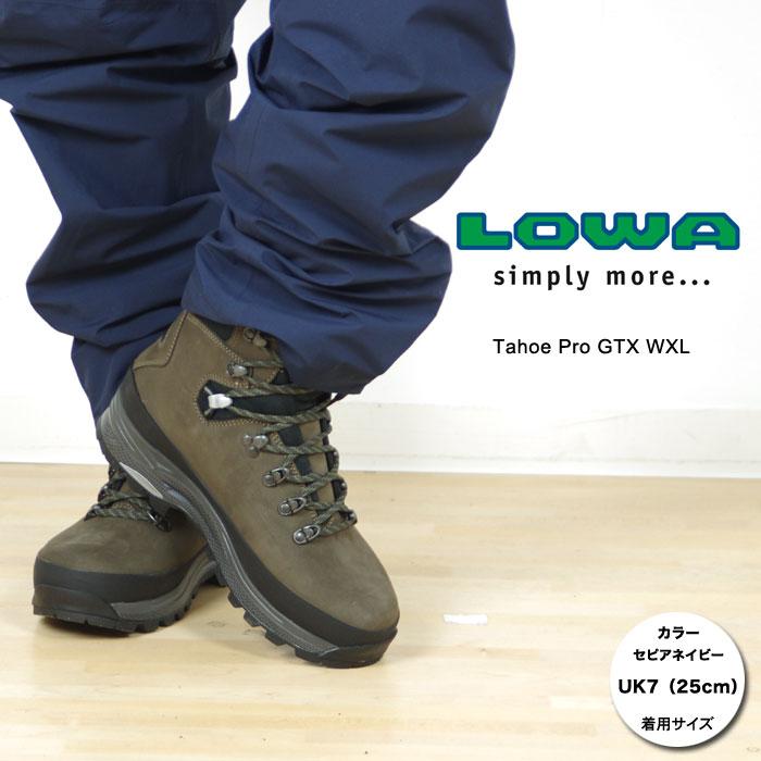 ローバー 登山靴 LOWA019(セピア/ネイビー)タホー プロ GTX WXL メンズ Tahoe Pro GTX WXL バックパッキング 登山靴 トレッキングブーツ トレッキングシューズ レザーブーツ スタッフ写真付