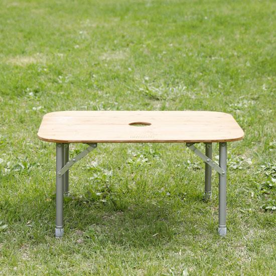 ニュートラルアウトドア テーブル NEUTRALOD34939 バタフライバンブーテーブル Butterfly Bamboo Table テーブル センターポール 折り畳みテーブル 高さ調節可能 NT-BT11