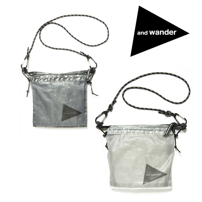 アンドワンダー キューベンファイバーサコシュ AW-AA985 サコッシュ cuben fiber sacoche ホワイト ブラック
