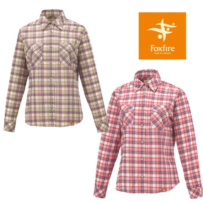 フォックスファイヤー WOMEN'S SCプレイドシャツL/S FXF8212696 レディース/女性用 シャツ SC Plaid Shirt L/S ※半期に一度のクリアランス