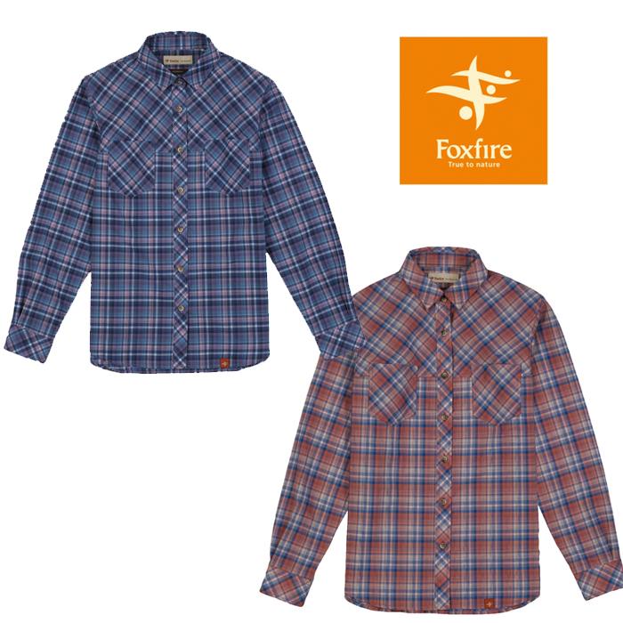 フォックスファイヤー WOMEN'S SCグラデチェックシャツL/S FXF8212724 レディース/女性用 シャツ SC Gradation Check Shirt L/S ※半期に一度のクリアランス