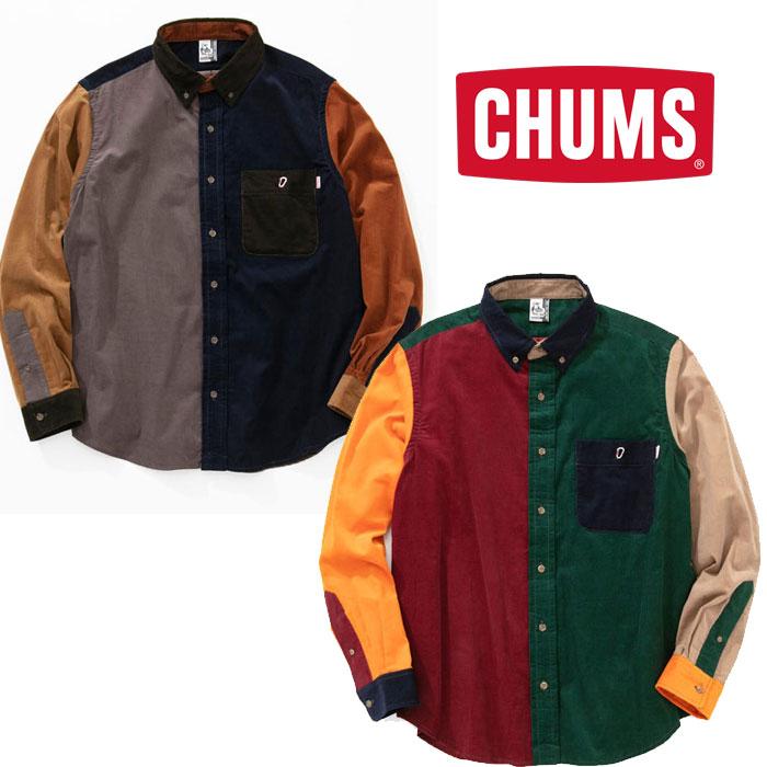 チャムス BDコーデュロイシャツ CH12-1091 レディース/女性用 シャツ BD Corduroy Shirt Women's 2018年秋冬新作