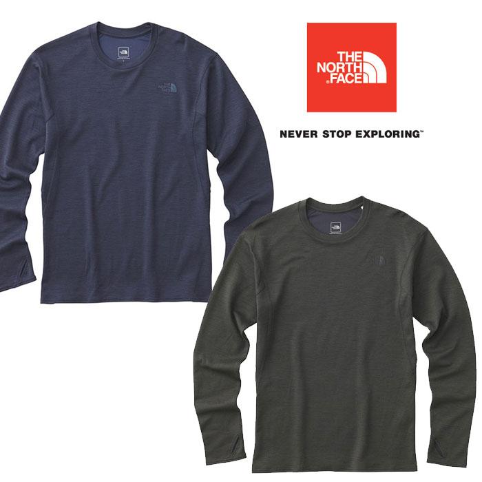 ノースフェイス ロングスリーブクライメートウールクルー NT61871 メンズ/男性用 Tシャツ L/S Climate Wool Crew 2018年秋冬新作