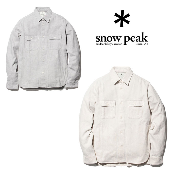 スノーピーク コットンウール フランネルシャツ SH-18AU004 メンズ/男性用 シャツ C/W Flannel Shirt 2018年秋冬新作