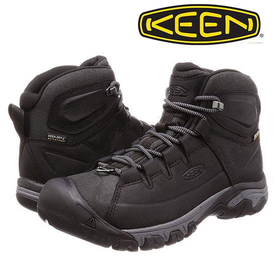 キーン ターギー レース ブーツ KEENMtargheelac メンズ/男性用 Black/Raven 1019910 アウトドアシューズ