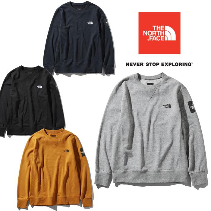 ノースフェイス スクエアロゴクルー NT11954 メンズ/男性用 スウェット Square Logo Crew 2019年春夏新作