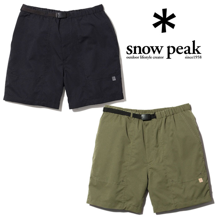 スノーピーク クイックドライ ショーツ PA-19SU106 メンズ/男性用 パンツ Quick Dry Shorts ※クリアランスSALE