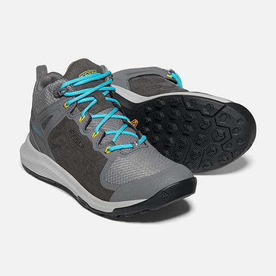 キーン エクスプロール ミッド KEENWexploremid レディース/女性用 Explore Mid WP 靴 1021647 Steel Grey/Bright Turquoise