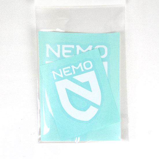 NEMO EQUIPMENT 正規品 シール ロゴシール ロゴステッカー 転写 ニーモイクイップメント NEMO シールドステッカーセット WT NM-AC-ST5 転写ステッカー ホワイト