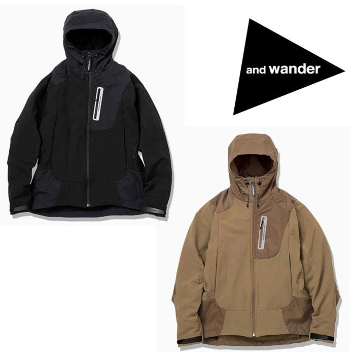 アンドワンダー ストレッチシェルジャケット AW93-FT001 メンズ/男性用 ジャケット stretch shell jacket ※半期に一度のクリアランス