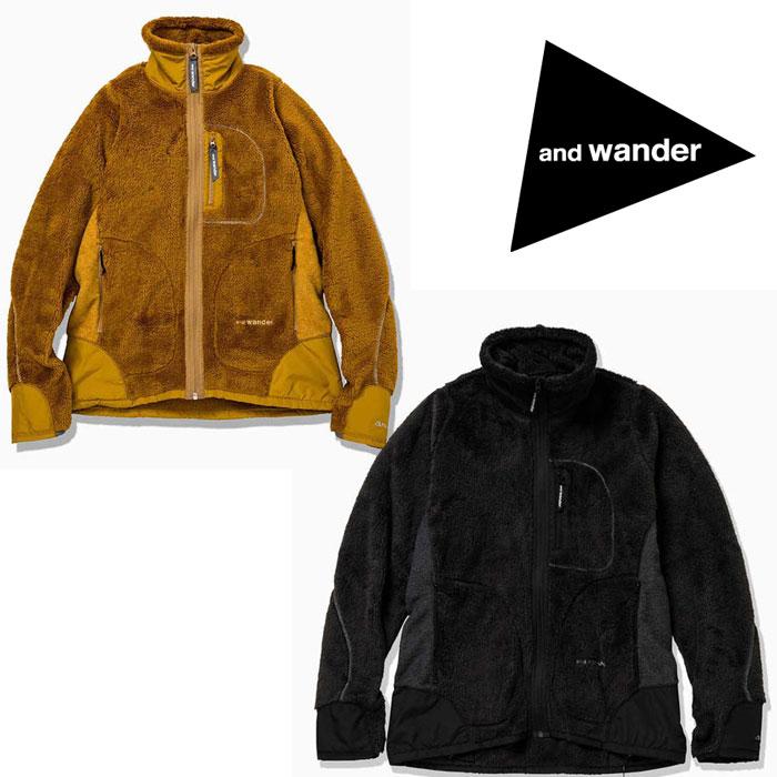 アンドワンダー ハイロフトフリースジャケット AW93-JT601 メンズ/男性用 フリース high loft fleece jacket ※半期に一度のクリアランス