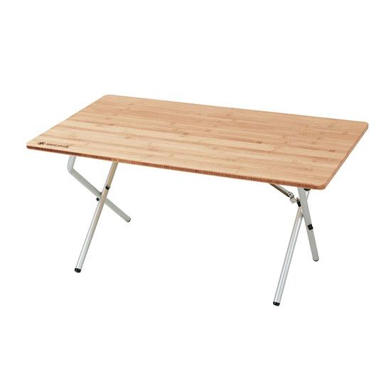 スノーピーク ワンアクションローテーブル竹 LV-100TR Single Action Low Table Bamboo