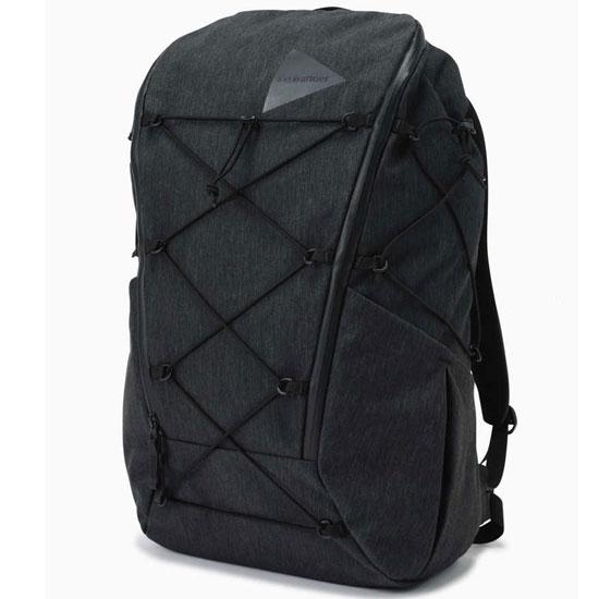 アンドワンダー ヘザーバックパック AW01-AA114 heather backpack デイパック チャコール ベージュ 2020年春夏新作