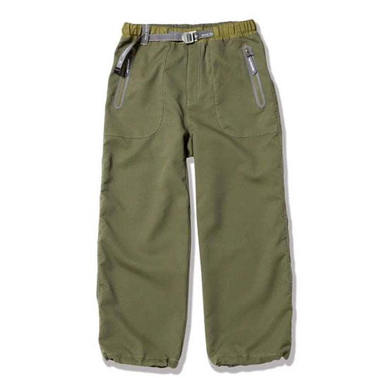 アンドワンダー ベントパンツ AW01-FF018 メンズ/男性用 パンツ vent pants カーキ
