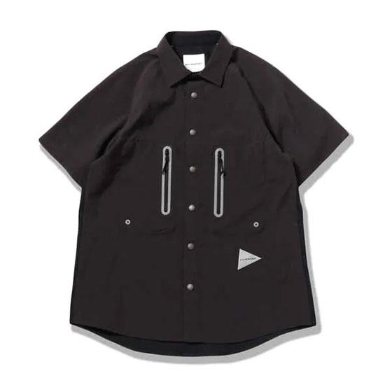 アンドワンダー テックショートスリーブシャツ AW01-FT027 メンズ/男性用 シャツ tech short sleeve shirt 2020年春夏新作