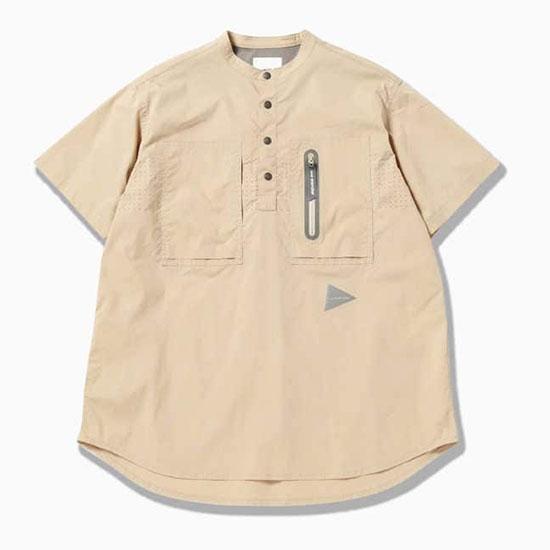 アンドワンダー レーザーホール オーバードライ ショートスリーブシャツ AW01-FT041 メンズ/男性用 シャツ 2020年春夏新作