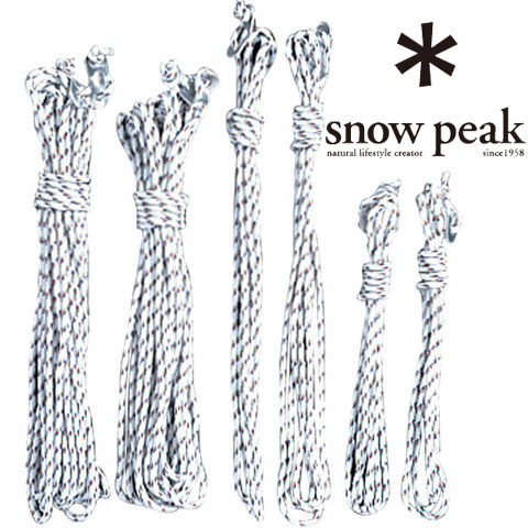 snowpeak ショップインショップ Shop 毎週更新 in スノーピーク ロープ TP-362-1 ロープセットPro ヘキサ タープ用ロープ アウトドアロープ 二又10m×2 4m×2 安全 自在付ロープ 3m×2 ゆうパケットOK スノーピークタープ