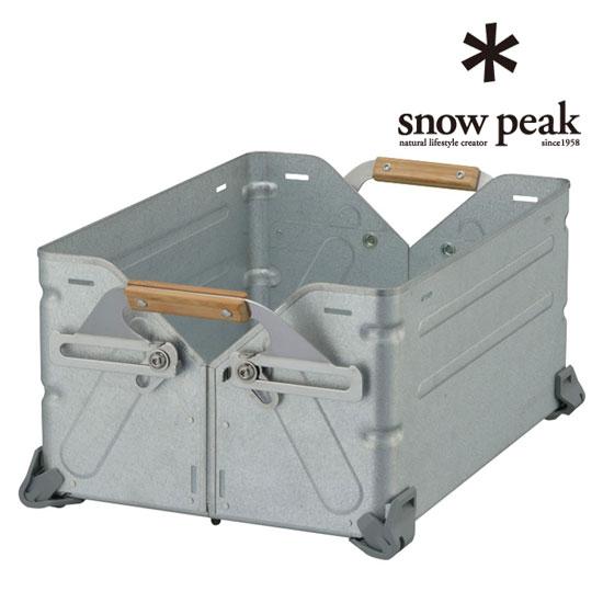 snowpeak ショップインショップ Shop in コンテナー シェルフ 大人気 棚 荷物運搬 25 スノーピーク Container UG-025G 贈答 Shelf 薪コンテナ キャリー シェルフコンテナ25