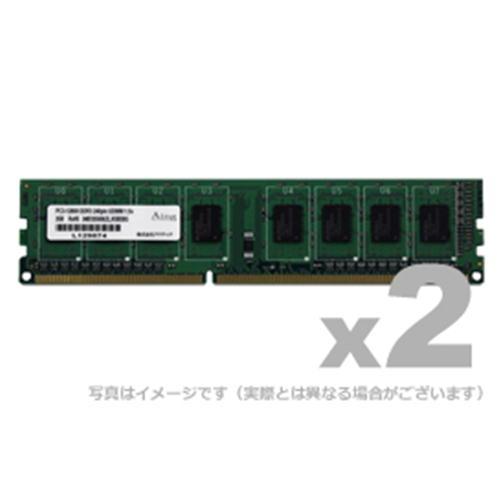 【沖縄・離島配送不可】ADTEC DOS/V用DDR3-1600 UDIMM 8GBx2 製品型番:ADS12800D-8GW